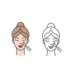 Facial medicine treatment vector