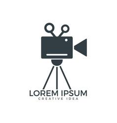 film or movie camera logo design vector image