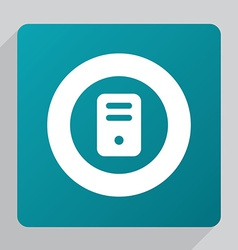 flat computer icon vector image
