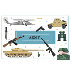Flat military and army concept vector