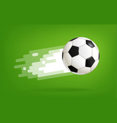 flying soccer ball world competition concept vector image