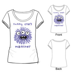 funny crazy monster vector image