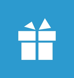 Gift icon white on the blue background vector