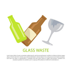 Glass water poster text sample vector