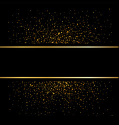 Gold lines on black background golden glow vector