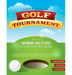 Golf Tournament Invitation Design vector