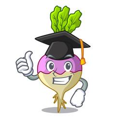 Graduation character healthy organic rutabaga root vector