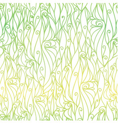 green gradient abstract scrolls swirls vector image