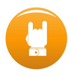 hand music icon orange vector image
