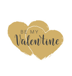 handwritten lettering of be my valentine vector image