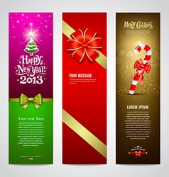 Happy New Year 2013 banner design collections vector image vector image