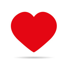heart red icon vector image