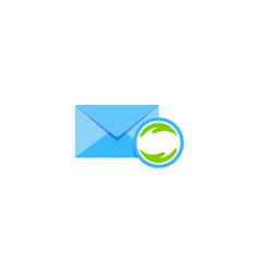 help mail logo icon design vector image