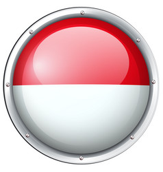 Indonesia flag on round badge vector