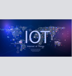 Internet things iot and networking vector