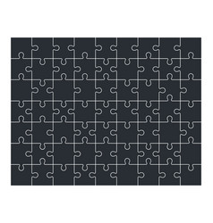 Jigsaw puzzle set of 63 pieces vector