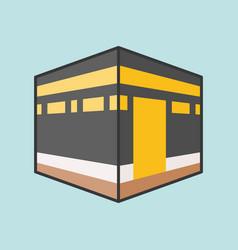 Kaaba mecca or kabah vector