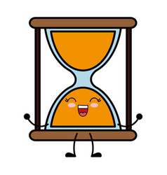 Kawaii hourglass icon vector