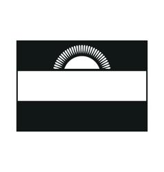 Malawi flag monochrome on white background vector