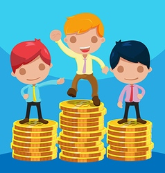 Man Worker Success Winner Coin vector