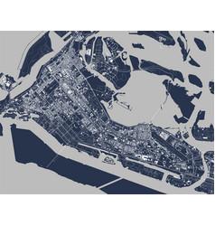 Map city abu dhabi uae vector