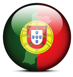 Map on flag button of Portuguese Republic vector