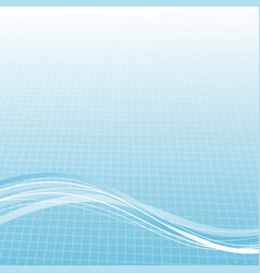 modern blue lines over halftone gradient cell vector image