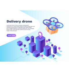 modern futuristic delivery system with unmanned vector image