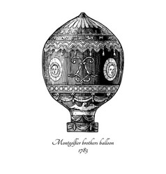 montgolfier brothers balloon vector image