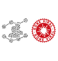 mosaic audience trends icon with coronavirus vector image