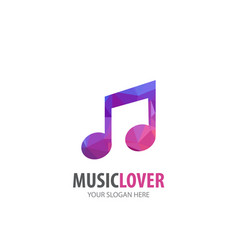 music logo for business company simple music vector image