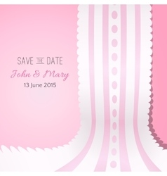 Pink background with vintage realistic pink and vector