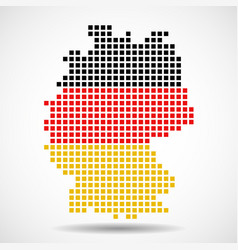 Pixel map of germany with the flag inside vector