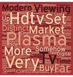 plasma hdtv text background wordcloud concept vector image