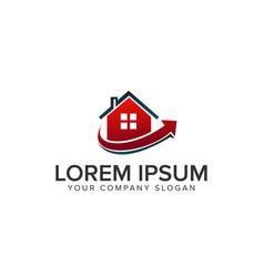 real estate logo mortgage house estate logo vector image