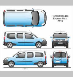 Renault kangoo express maxi passenger van 2013 vector