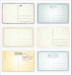 Retro vintage postcard designs collection vector