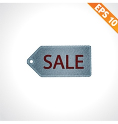 Sale tag on denim style - - EPS10 vector image