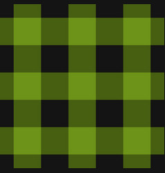 seamless black dark and bright green tartan vector image