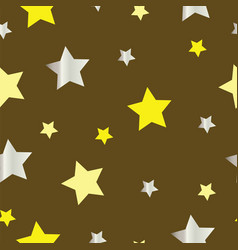 Seamless pattern with yellow and grey stars vector