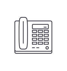 secretarys phone line icon concept secretarys vector image