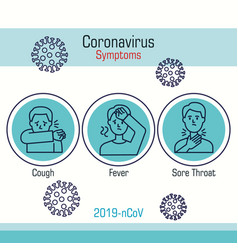 set icons symptoms covid19 19 vector image