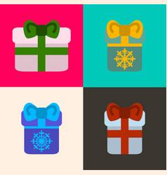 Set of presents vector