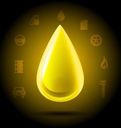Shining golden drop vector image
