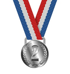 Silver Medal Isolated on White Background vector image