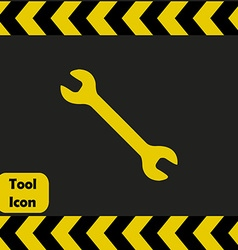Spanner icon vector