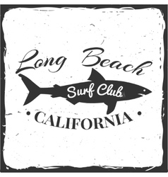 Surf club concept vector