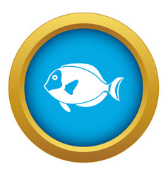 Surgeon fish icon blue isolated vector