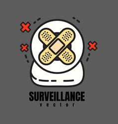 surveillance webcam vector image