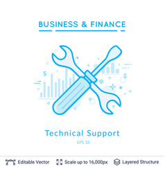 Technical support symbol on white vector